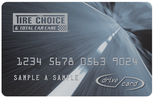Tire choice drive card