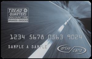 Tread Quarters drive card
